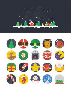 18-25-Christmas-Flat-Icons