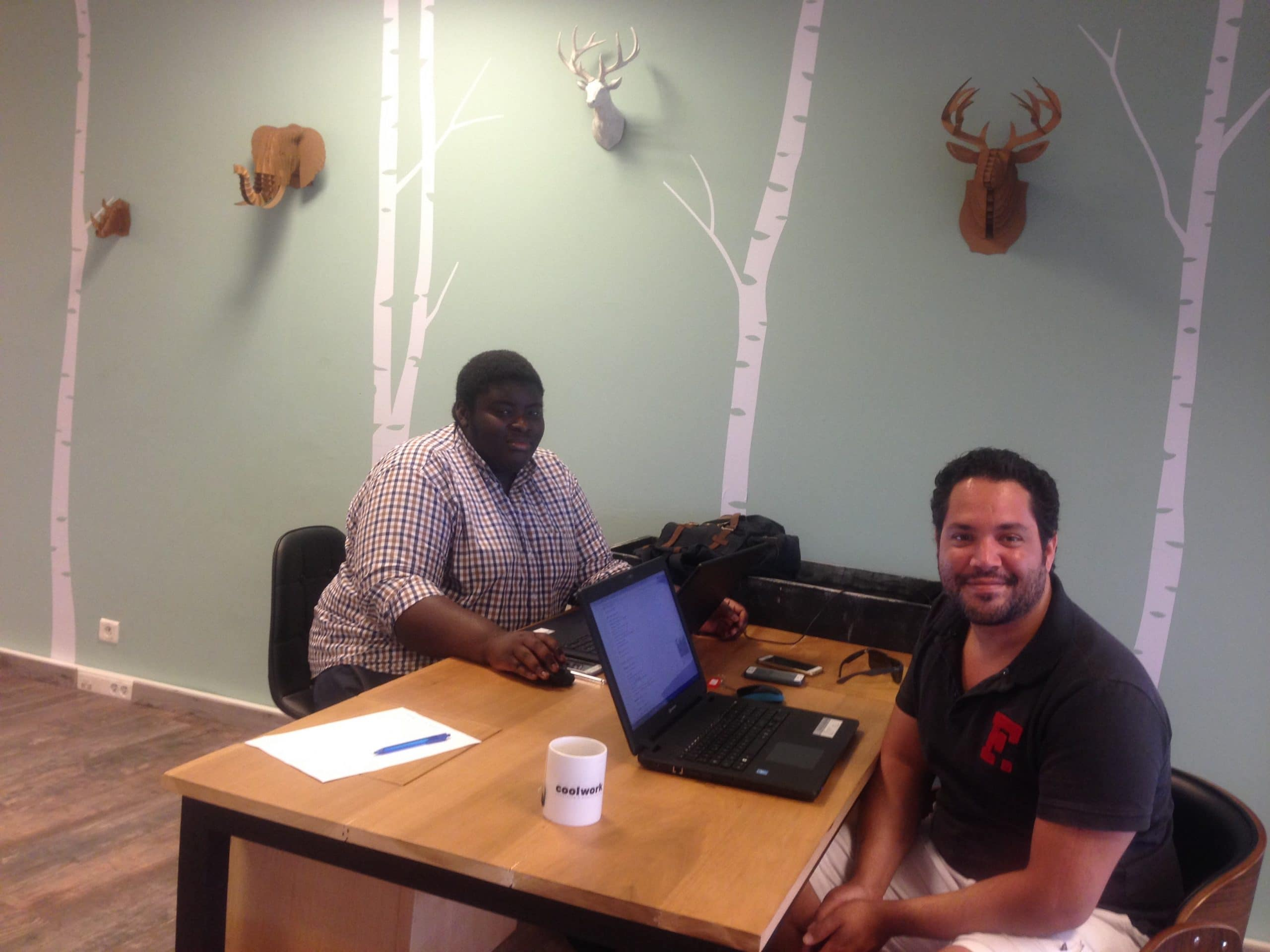 Kévin and his boss from NCP Consult